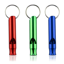 3 pc Mix Aluminum Emergency Survival Whistle Keychain For Camping Hiking perfect match for different occasion