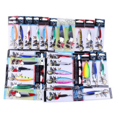 1pc Crank Bait Random Color Metal Hard Fishing lure artificial bait with Hooks