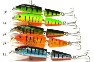 2pcs Crank Bait Fishing Lures with Hooks