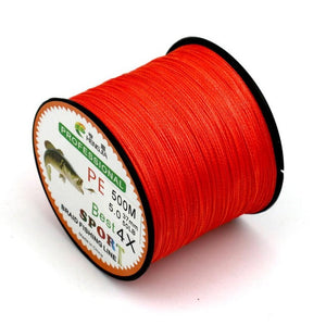 Hot Selling 500M Super Strong Extreme PE Braided Sea Fishing Line Multifilament Fishing Line