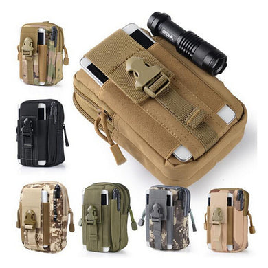 1000D Tactical Kick Pouch MOLLE Durable Mobile Phone Case EDC Molle Pouch Tool Bag Zippered Closure Webbing Waist Pack for Belt