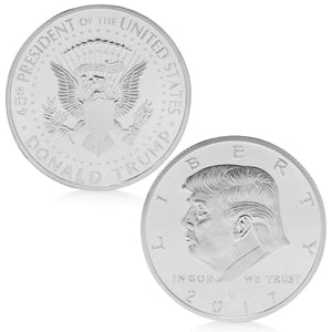 trump coin silver plated collector coin commemorative coin