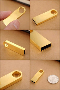 Gold and Silver colored USB Flash drives