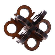 interlocking wooden iq puzzle jigsaw test game