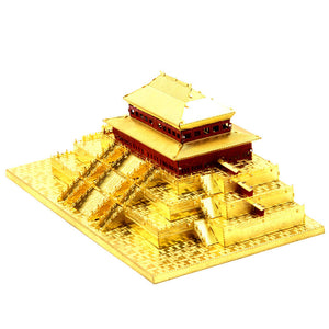 3D Metal Puzzle China Hall of Supreme Harmony Building Model Laser Cut