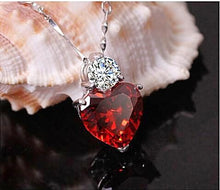 Zircon heart shaped heart necklace heart pendant zircon gemstone cubic zerconia cz