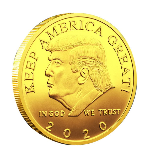 2020 President Donald Trump Challenge Coin Eagle Presidential Commemorative Coin