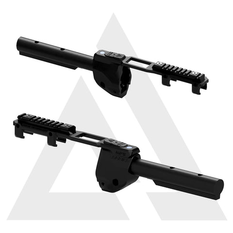 ADAPTADOR TUBO STOCK M4 E ELEVADOR DE TRILHOS - MP5 AIRSOFT