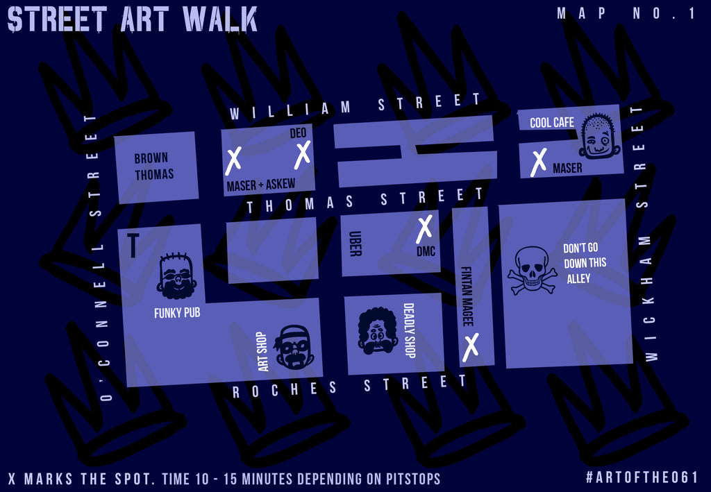 Limerick City Street Art Maps – The061 on infamous second son game map, dead town jak 2 map, infamous 3 map, blast shards ps3 map, infamous second son district map,