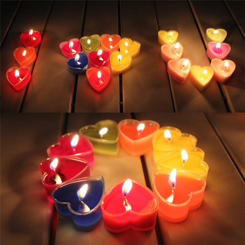 Heart Shaped Candles 9pcs/set