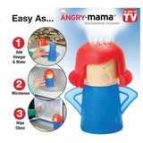 Microwave Cleaner - Angry Mama + Cake Mold - 3D
