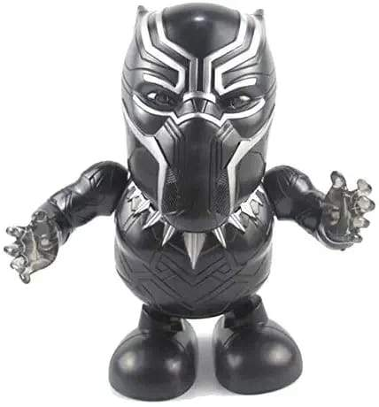 Black Panther Avengers Electric Dance Hero Robot Figure with LED Light - Greatest deals