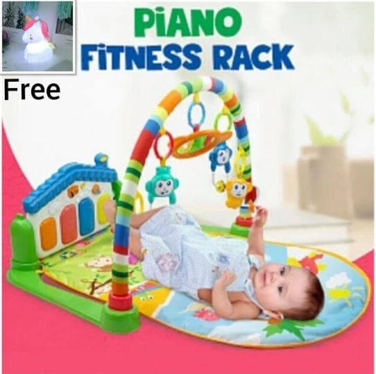 Multi-function Piano Fitness Rack + Unicorn LED Light! - Greatest deals