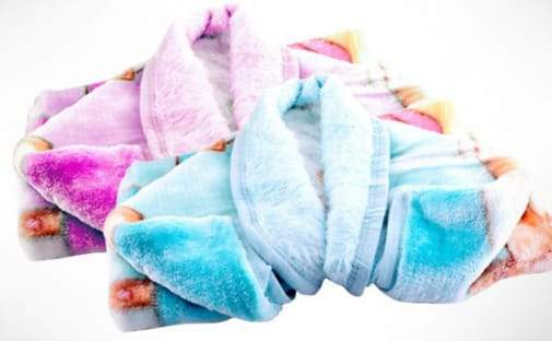 Baby Cuddle Sac / Zipper Blanket (Pink/Blue)