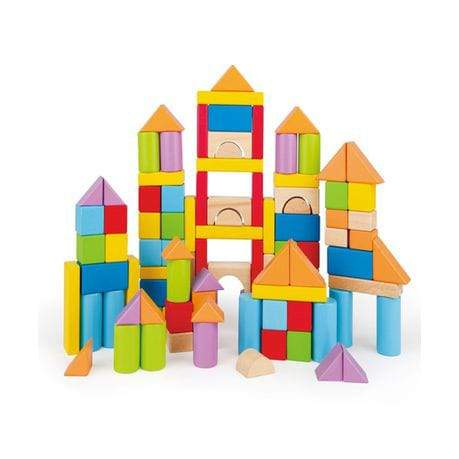Wood Blocks Educational (100 Pieces) - Greatest deals