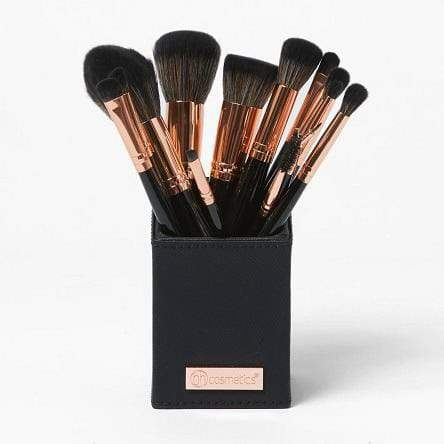 BH Cosmetics Signature Rose Gold Black 13 Piece Brush Set