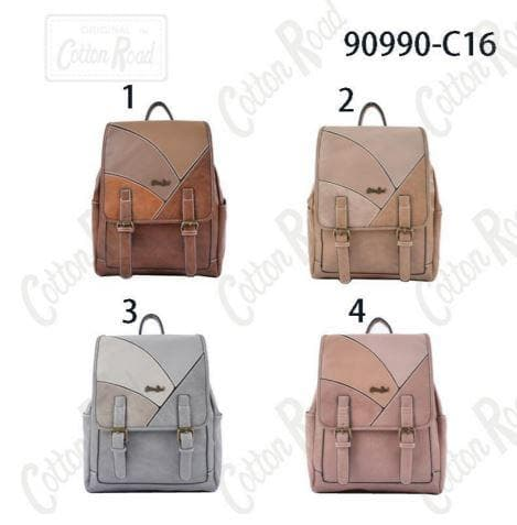 Cotton Road Trendy PU Backpack 90990-C16