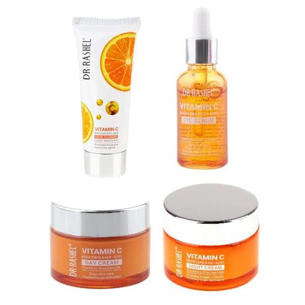 Dr Rashel Vitamin C Eye Serum 30Ml +Day Cream +Night Cream +Facial Cleanser (Value Pack) - Greatest deals