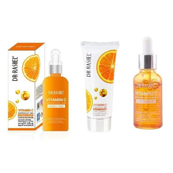 Dr Rashel Vitamin C Eye Serum + Facial Cleanser + Anti-Aging Facial Toner - Greatest deals