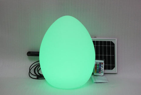 Solar Light Garden Egg Ball Dome With 8 Colors & Remote Control (23x23x29cm)