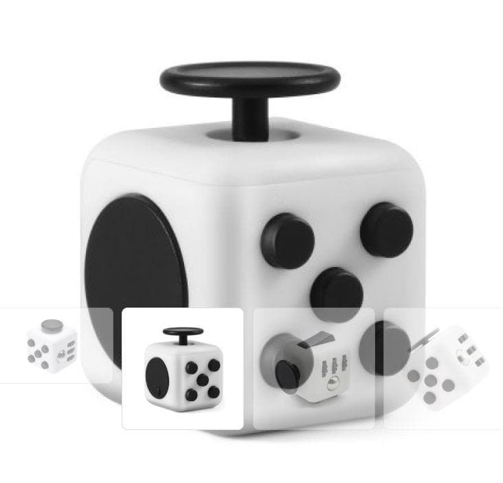 Fidget Block - White/Black