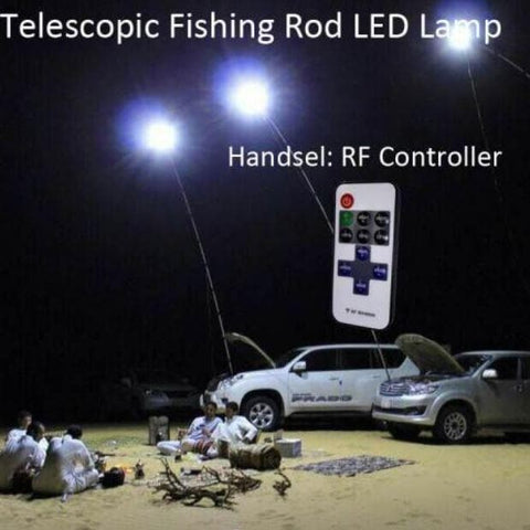 Camping Light - Multifunction Fishing Rod & Outdoor Camping Light With Remote.