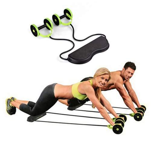 Foldable Revoflex Xtreme Rally Multifunction Pull Rope Wheeled Health Abdominal Muscle Training