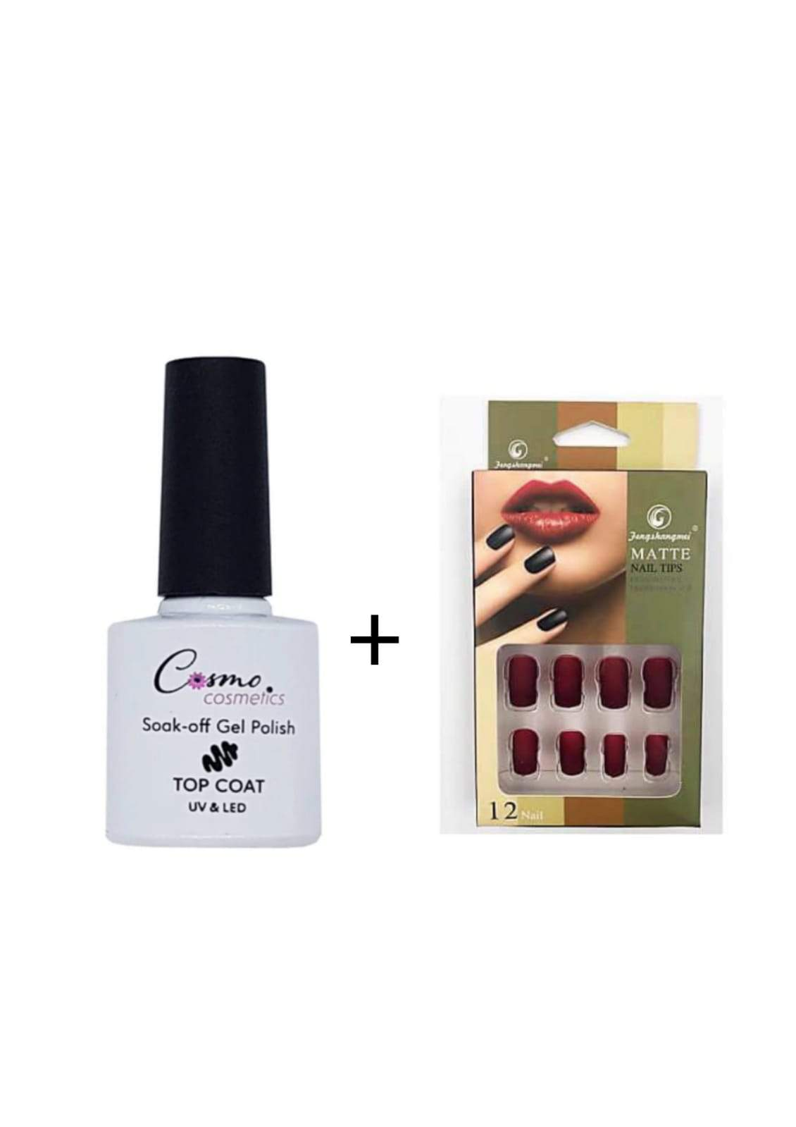 Cosmo Gel Top Coat (Soak Off Gel) 7ml + Matte 12 Nails - Greatest deals