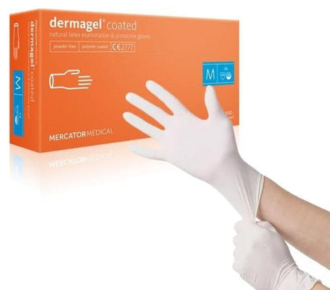 Latex Gloves (L) Dermagel (Box Of 100)