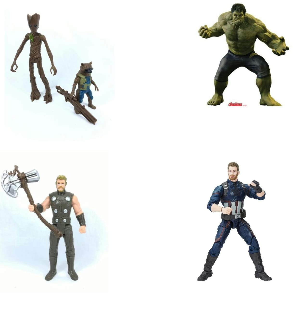 Super Hero Combo Set 15cm (Approx) Thor, Rocket Raccoon & Groot Action Figures - Greatest deals