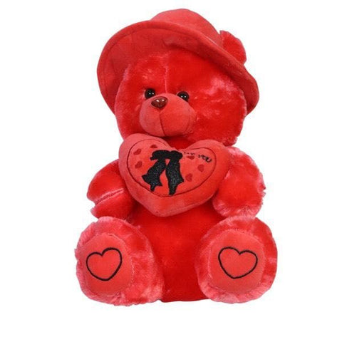 RED TEDDY PLUSH TOY (WRITTEN I LOVE YOU)