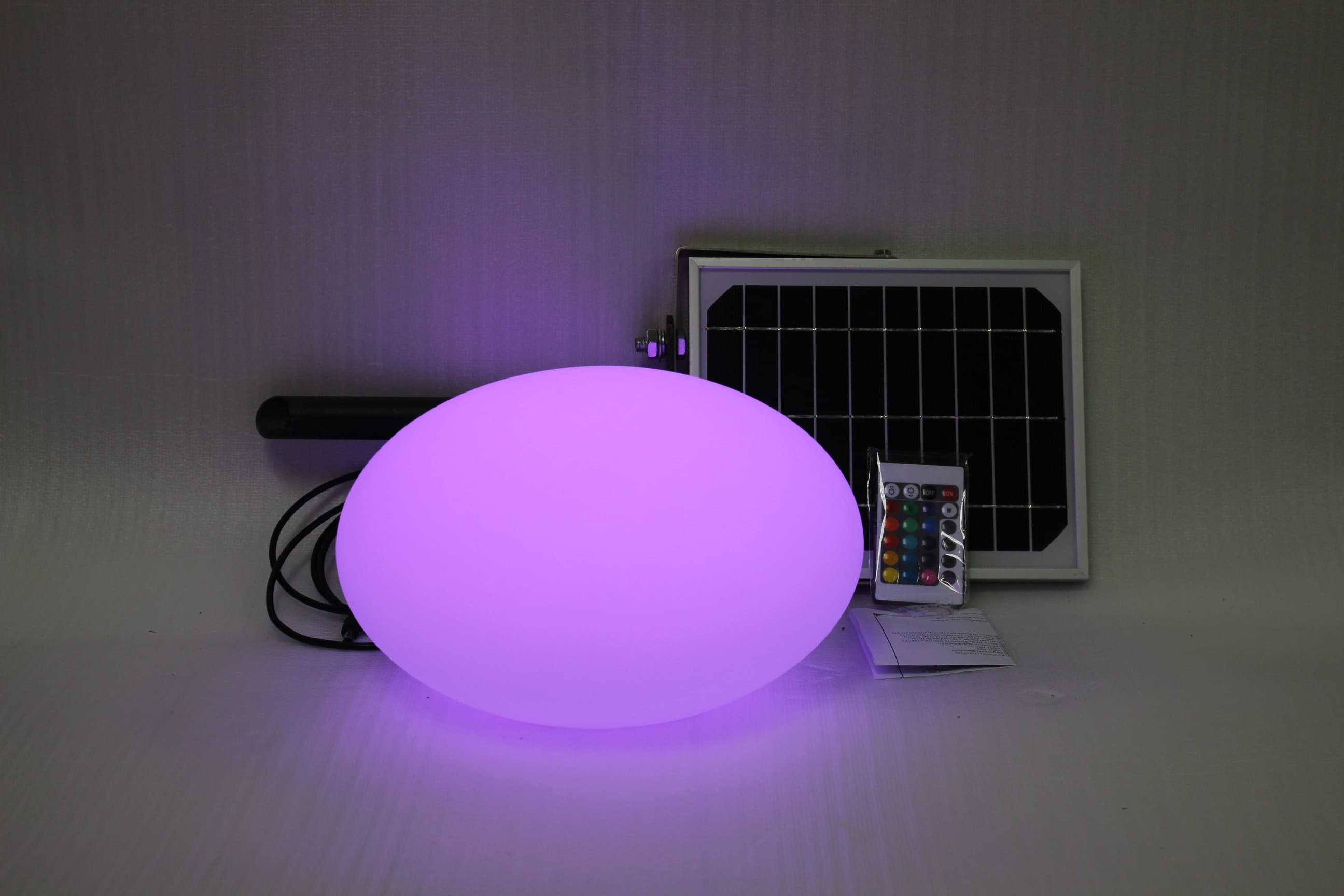 Solar Light Garden Egg With 8 Colour & Remote Control (28x28x18cm)