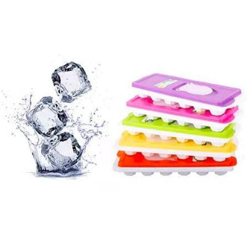 Ice Cube Tray Pastel Colors With Lid