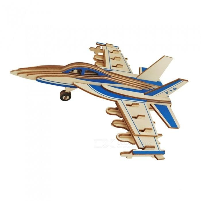 3D Wooden Puzzle Mini F-16 Fighter Plane(16pc)