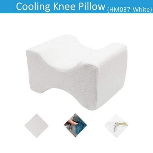 Charcoal Infused Memory Foam Knee Pillow With Cooling Gel - Greatest deals