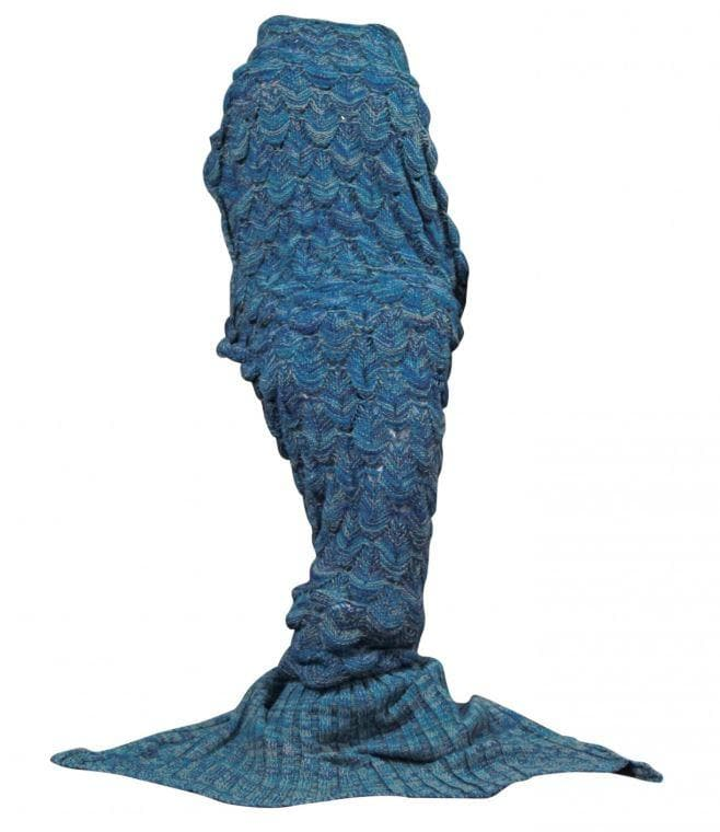 Mermaid Blanket - 90*180cm Adult, Color:Blue