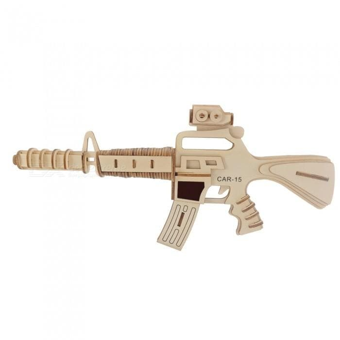3D Wooden Puzzle Military Weapon Carbine Gun (103pc)
