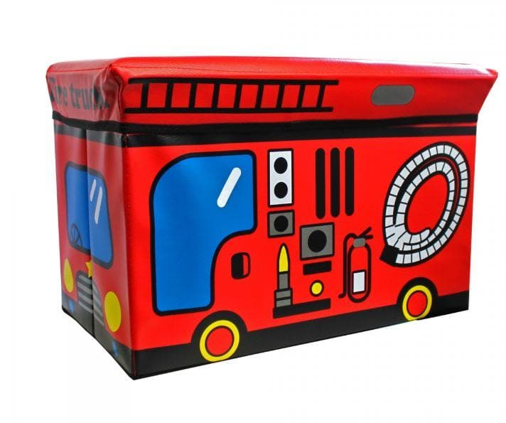 Ottoman - Kids - Fire Truck New - Greatest deals