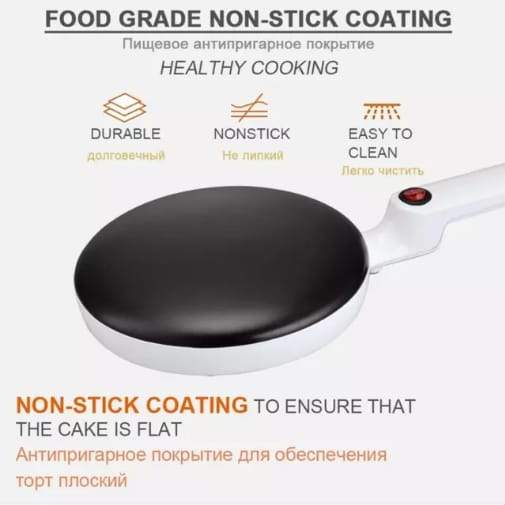 Crepe Pancake Maker with Non Stick Surface