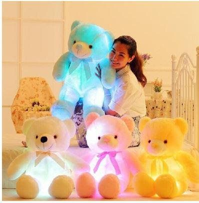 GLOW IN THE DARK WHITE PLUSH TEDDY - Greatest deals
