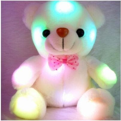 GLOW IN THE DARK WHITE PLUSH TEDDY