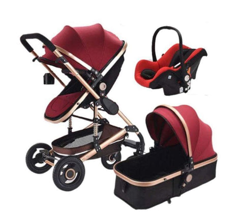 Baby Pram Stroller - 3 In 1 Function Belecoo With Car Seat
