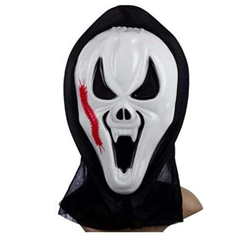 Scream Masquerade Halloween Party Fancy Dress Costume Face  With Centipede