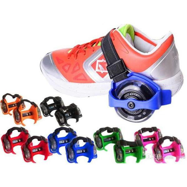 Small Whirlwind Pulley Adjustable Flash Wheel Roller Skating Shoes - Greatest deals
