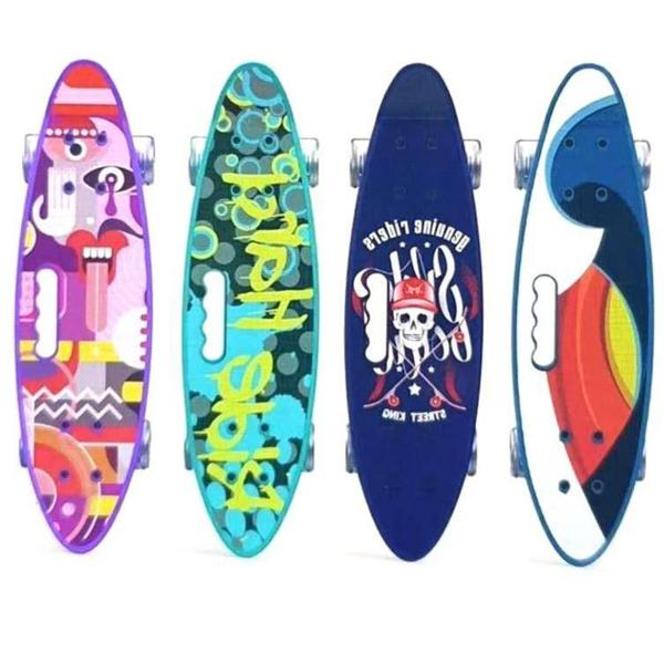Skateboard with Colorful LED Light Up Wheels