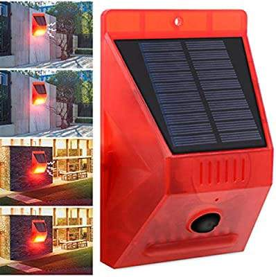 Solar Alarm With RF Remote129DP Siren