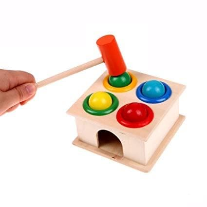 Toyshine Wooden Hammer Case Toy (Multicolour)