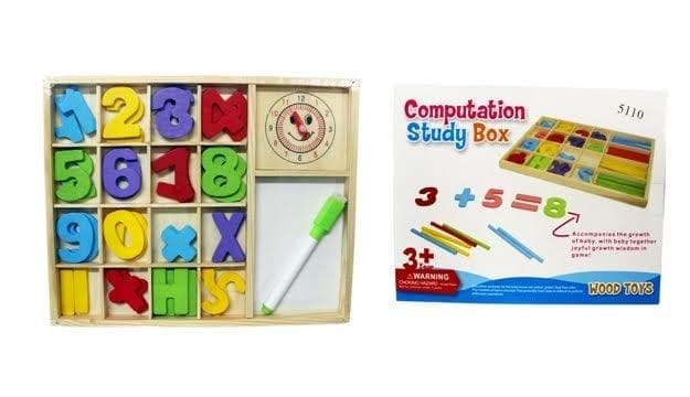Wooden Computation Study Box