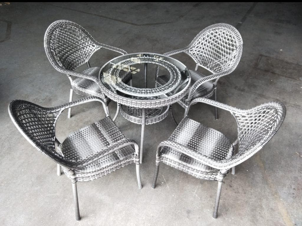 Outdoor Garden Furniture (6 Piece)Grey - Greatest deals