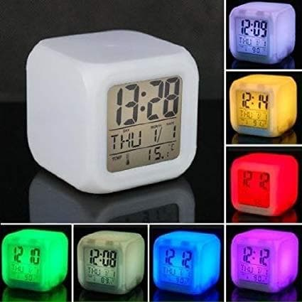 Alarm Clock LED (Glowing) Multi-Color